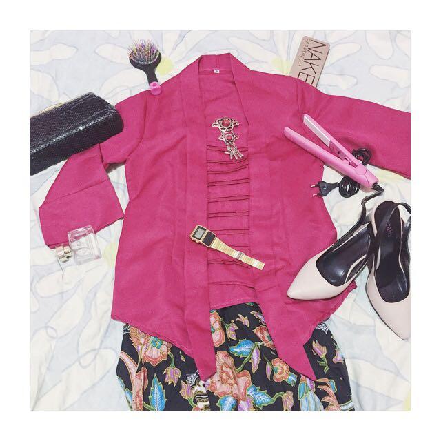 Kebaya Encim (M) Pink ,Belum dipakai