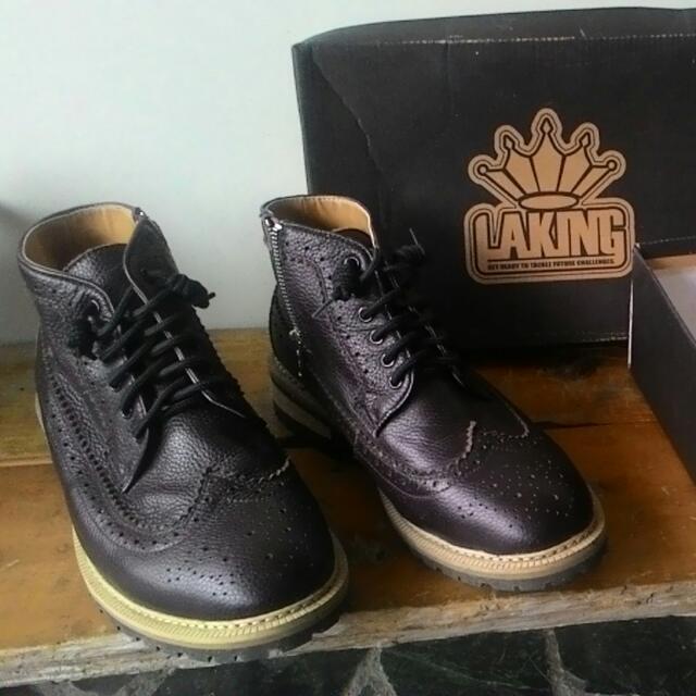 Laking英倫風拉鍊中筒靴 42碼可交換物品