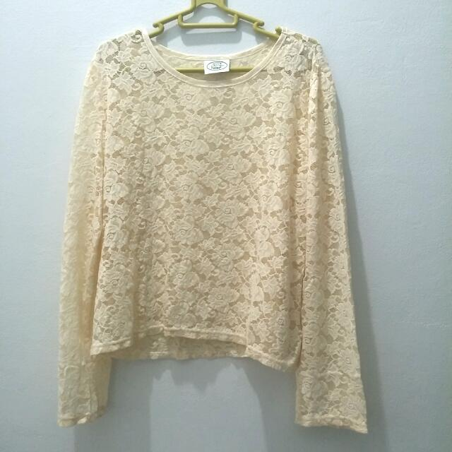 Laura Ashley Lace Top Brukat