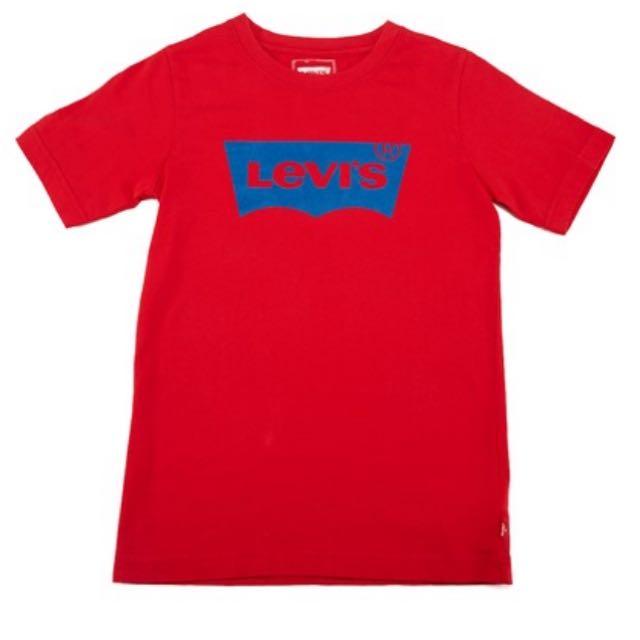 Levi's Levis 短踢 短t T Shirt 男 女 藍色 經典