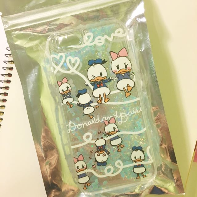 Liquid Glitter Donald And Daisy Duck Clear Case (iPhone 6S)