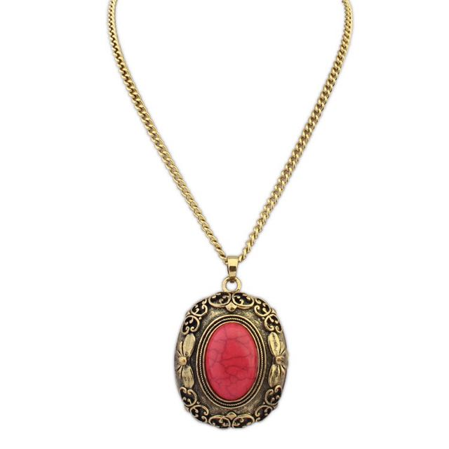 Long Chain Red Stone