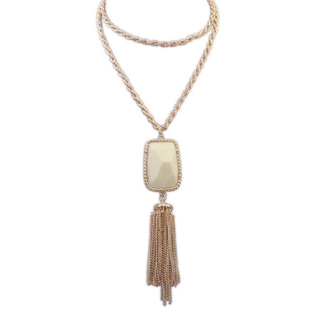 Long Chain White Diamond