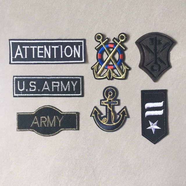 Lot of 7 ARMY Air Force Military Seal Iron-on/Sew Embroidered Random  Patches RARE!