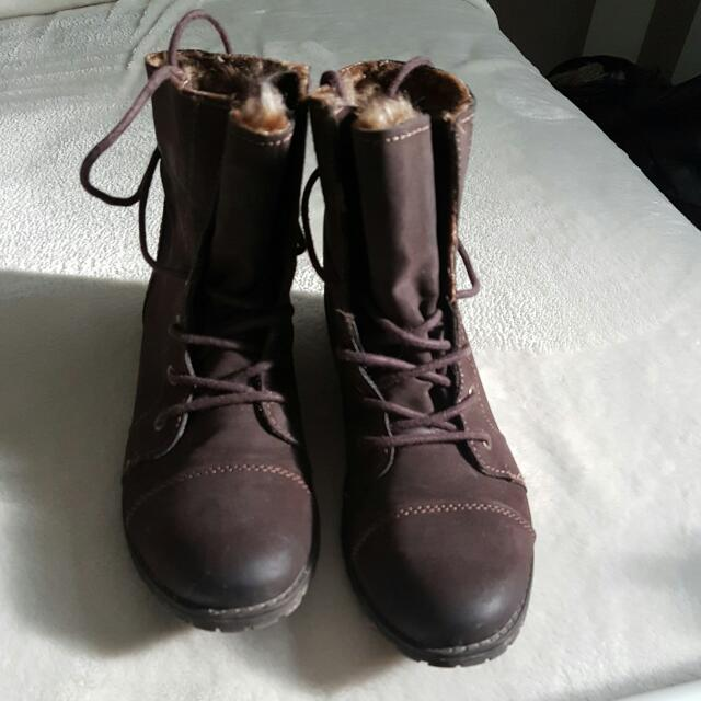 Madden Girl Fall Boots. Size 8