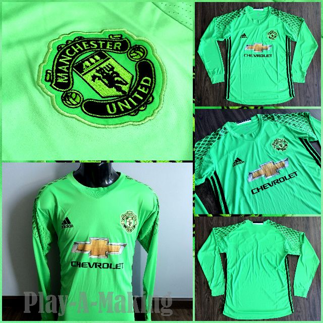 official photos 92f94 e292b Manchester United Goalkeeper Green 16/17 Long Sleeves Jersey (PRE-ORDER)