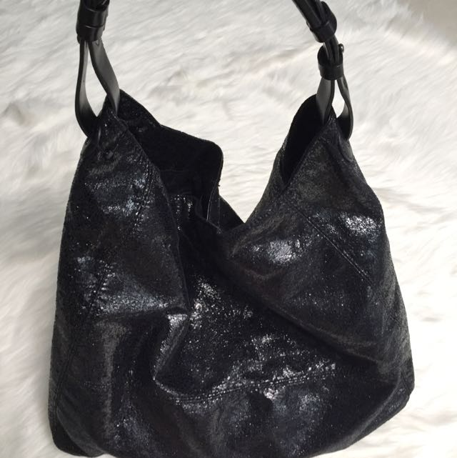 Mango Glittery Bag in Black