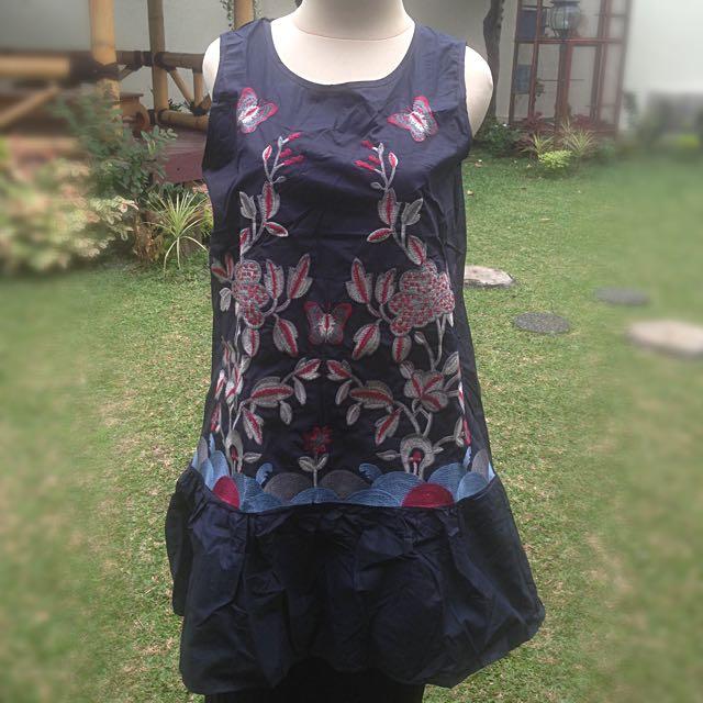 Midi Dress Embroidery