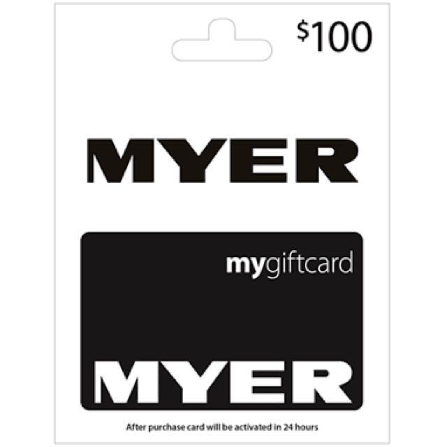 Myer $100 Gift Card
