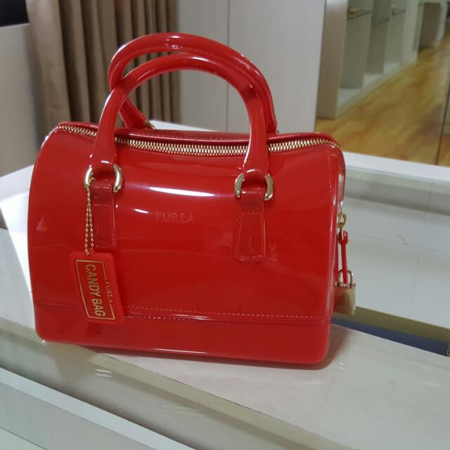 NEW Furla Candy Bag Red