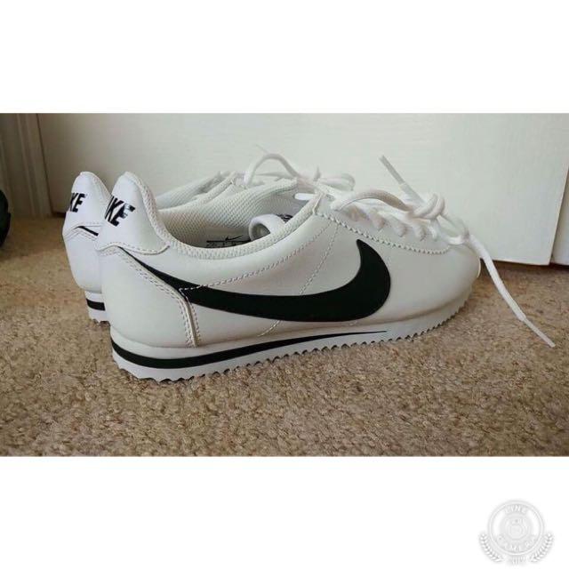 Nike 女鞋 阿甘鞋 經典款 復古 白底黑勾
