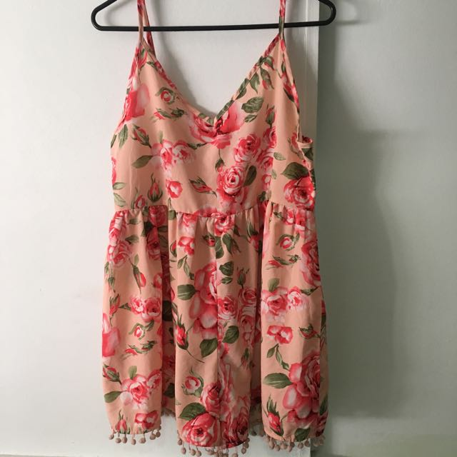 Paperheart Floral Playsuit Size 10