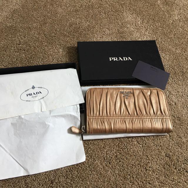 Prada Golden Wallet