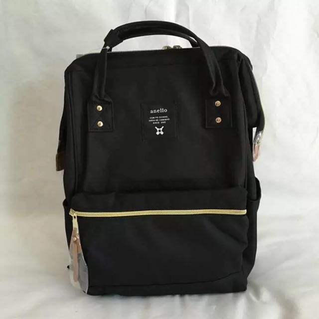 930e6114a40 Preorder: Authentic Anello Polyester Backpack Black Large And Mini ...