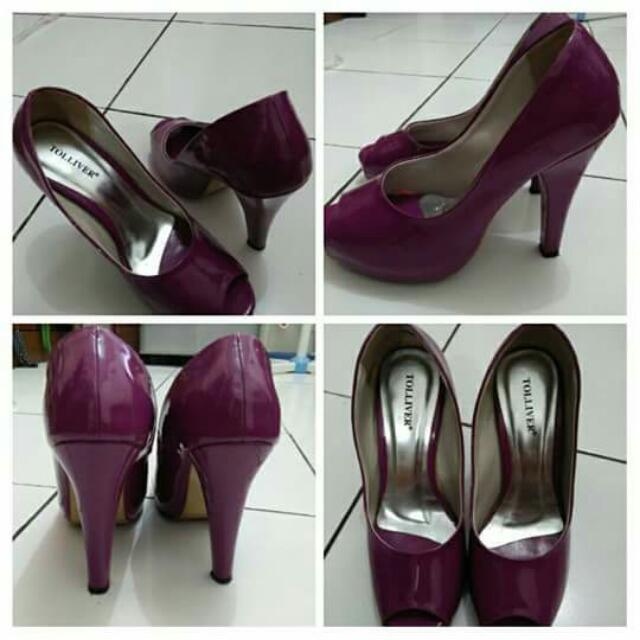 Purple Heels Size 37-38 Merek Sidewalk Zalora