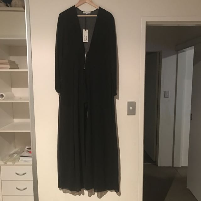 RARE LONDON Black Jumpsuit