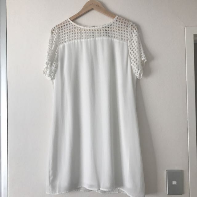 RARE LONDON White Mini Dress