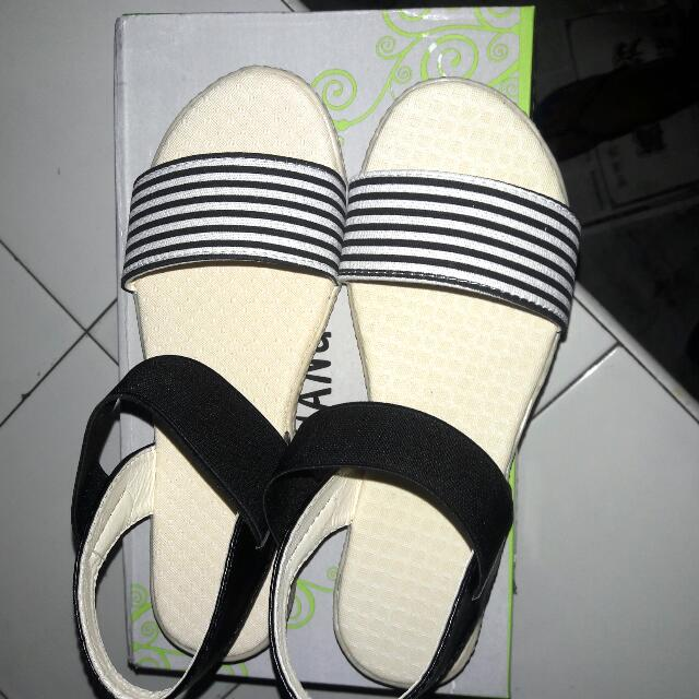 Sandals Stripe Black