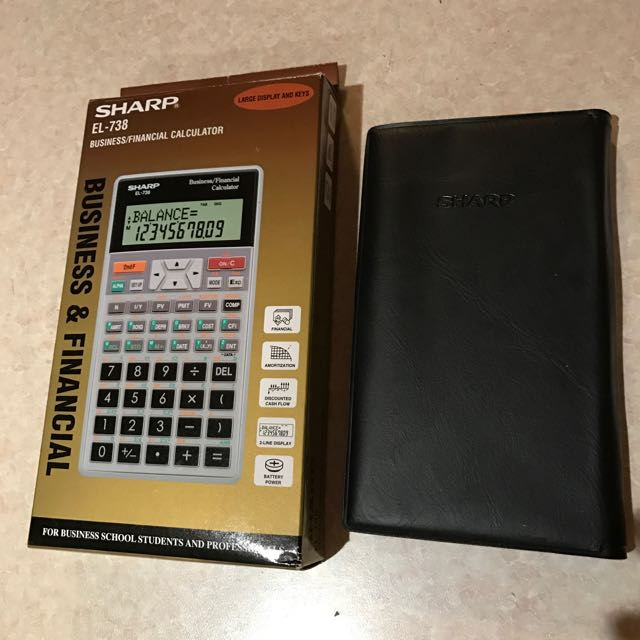 SHARP EL-738 Financial Calculator