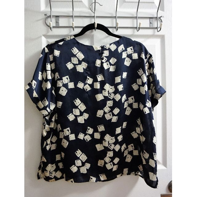 SILENCE + NOISE Patterned Blouse (Size S)