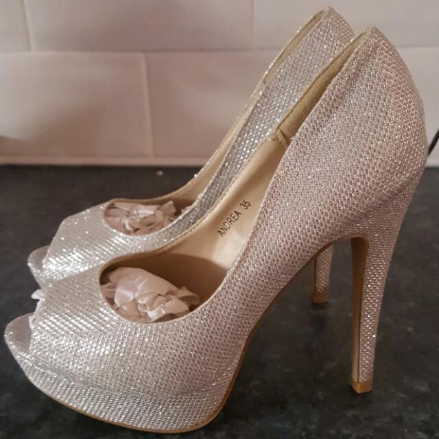 Silver Glittery Shoes