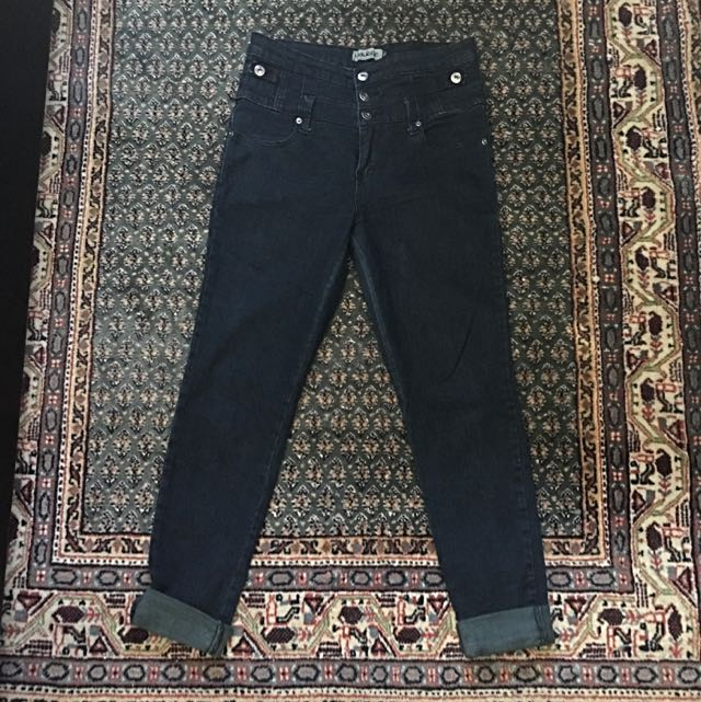 Size 10 Blue High Waisted Jeans