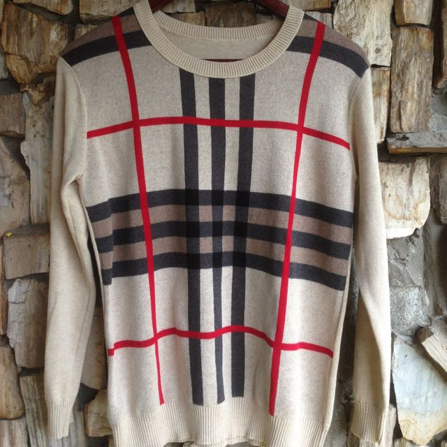 Reprice!! Sweater Burberry Cream Premium Import