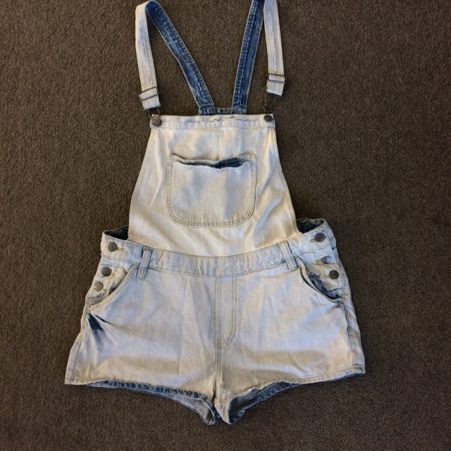 Washed Out Blue Overalls