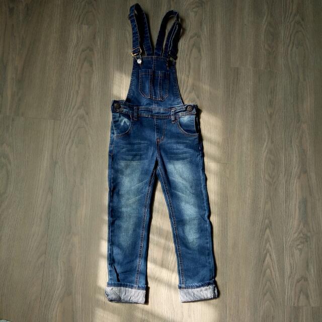 Zara Kids牛仔吊帶褲