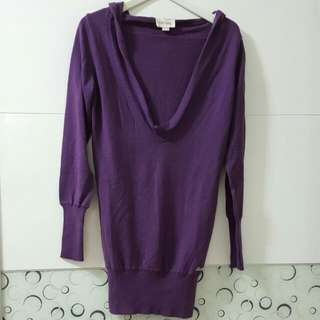 Diesel 紫色性感貼身洋裝