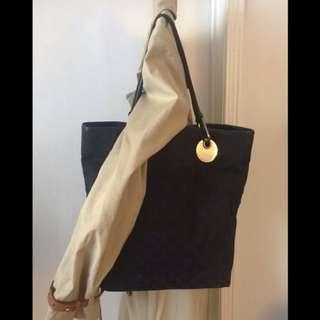 Authentic GUCCI Black Monogram GG Tote Bag