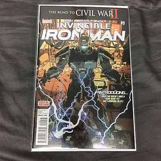 Invincible Ironman 9 Marvel Comics Book Stan Lee Movie Iron Man