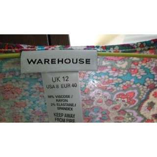 Warehouse dress , rarely used great condition UK size 12