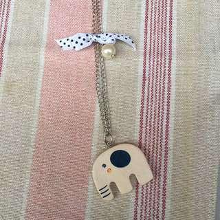 木製可愛項鍊