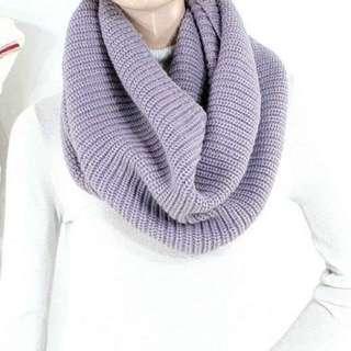 【JeansJobber Shopping】 紫藕色針織圍脖