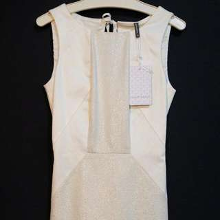 Naf Naf White Dress