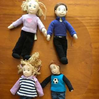 4 X Soft Flexible Small Dolls