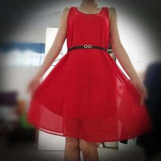 Dinner Red Dress