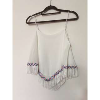 Tribal fringed camisole