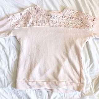 Forever 21 Lace Sweatshirt