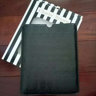 Brand New Charlie Brown IPad Slip Black Case / Pouch With Skull Embossed Design