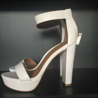 Ankle Strap White Heel