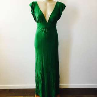 Beautiful Fitted Green Maxi Dress