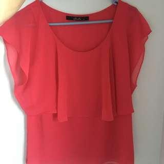 Stella Orange Shirt Sz 10