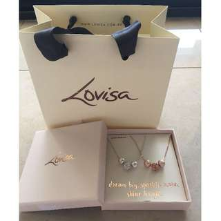 New Lovisa Bauble Necklace x 2 silver and rose gold dream big, sparkle more, shine bright