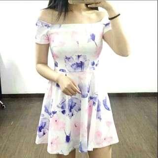 BN Off Shoulder Floral Dress (Pending, Kimcmt)
