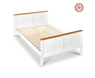 Pine Wood Queen Bed Frame
