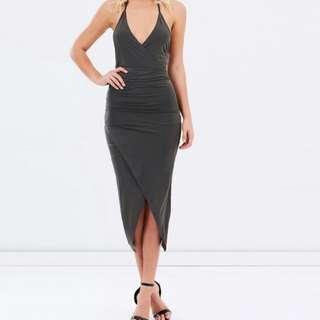IVORY & CHAIN Khaki Halter Dress - Size 14