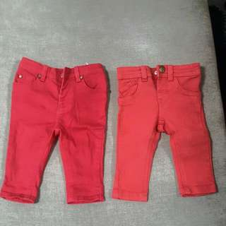 2 Pair Of Red Colour Pants