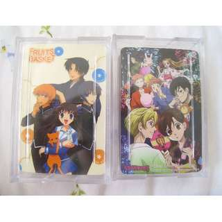 Anime Fruits Basket Ouran High School Host Club playing cards